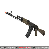 LCT Airsoft AK-74M Full Metal AEG Rifle  - Black / OD Airsoft Electric Gun- ModernAirsoft.com