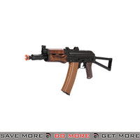 LCT Airsoft AKS-74U Assault Rifle AEG - Black / Wood Airsoft Electric Gun- ModernAirsoft.com