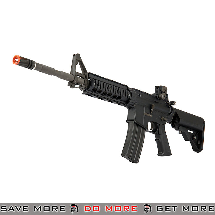LCT Airsoft Full Steel M4 EBB AEG Rifle w/ Quad Rail - Black Airsoft Electric Gun- ModernAirsoft.com
