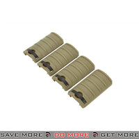 LCT Airsoft 5-Slot Handguard RIS Rail Cover Panels Set LCT-M-102 - 4 pcs, Tan Rail Accessories- ModernAirsoft.com