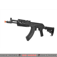 LCT Airsoft AK-104 Assault Rifle AEG w/ Folding Stock - Black Airsoft Electric Gun- ModernAirsoft.com