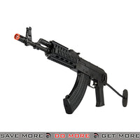 LCT Airsoft Steel TX-65 Full Metal AEG Rifle w/ Folding Stock - Black Airsoft Electric Gun- ModernAirsoft.com