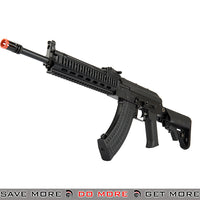 LCT Airsoft Steel TX-MIG Full Metal AEG Rifle w/ Crane Stock - Black Airsoft Electric Gun- ModernAirsoft.com