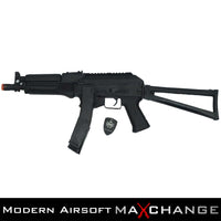 z MaxChange Open Box LCT AIRSOFT PP-19 VITYAZ AEG AIRSOFT SMG SUBMACHINE GUN W/ FOLDING STOCK - BLACK