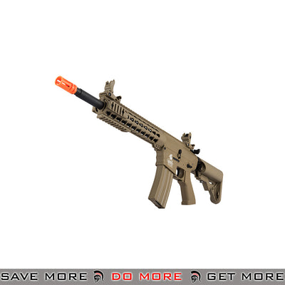 Lancer Tactical Gen. 2 Keymod Evo Polymer M4 Airsoft AEG Rifle LT-12TK-G2 - Tan Airsoft Electric Gun- ModernAirsoft.com