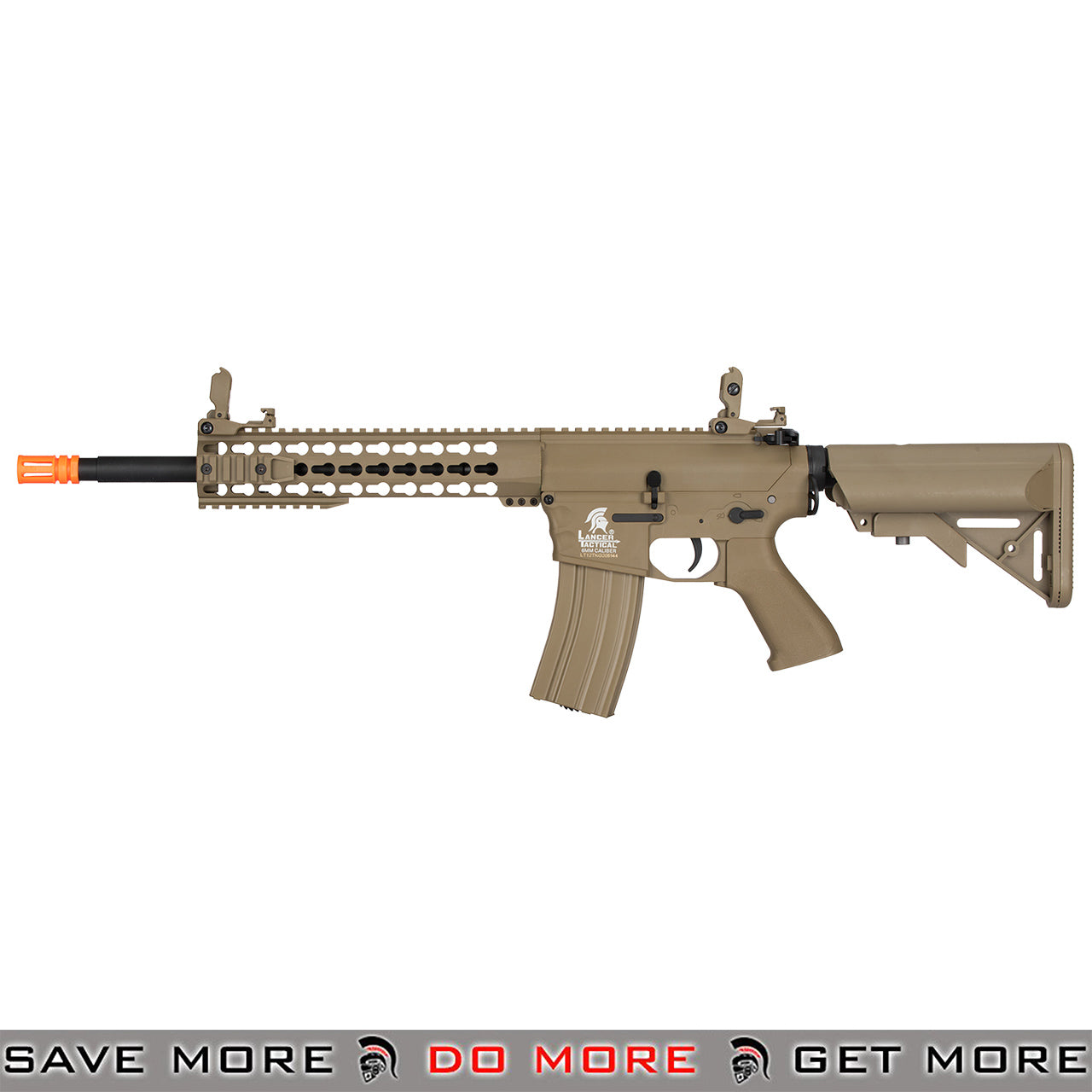 Lancer Tactical Gen. 2 Keymod Evo Polymer M4 Airsoft AEG Rifle LT-12TK-G2 - Tan