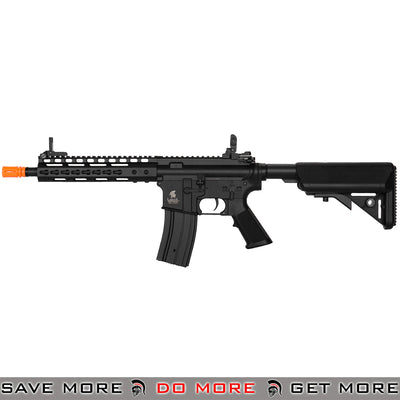"Lancer Tactical LT-14C 9"" Keymod Rail M4 Airsoft AEG Rifle - Black"