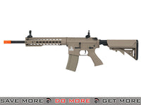 Lancer Tactical Gen. 2 10 Inch Keymod Low Velocity CQB Legal AEG LT-19TL-G2 Carbine - Tan Airsoft Electric Gun- ModernAirsoft.com