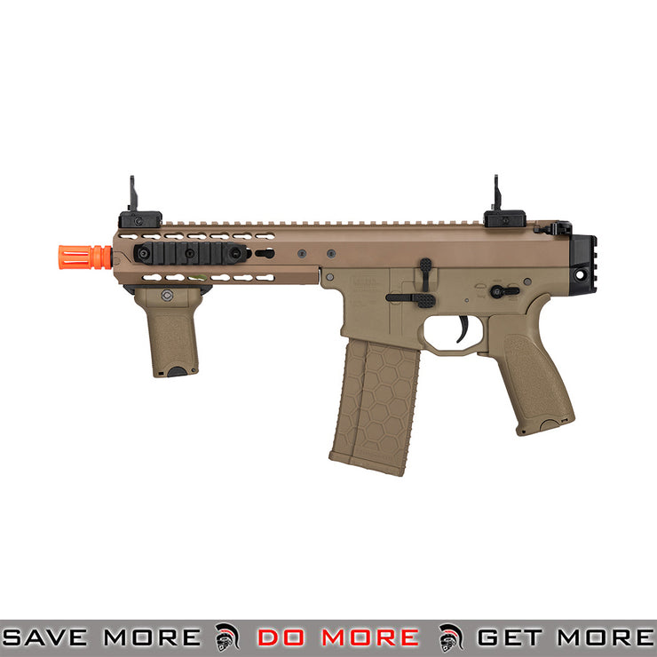 Lancer Tactical Warlord 8 Inch Keymod Stockless AEG Carbine [ LT-200TCL ] - Tan, Low Power