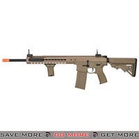 Lancer Tactical Warlord 18 Inch Crane Stock Keymod AEG Carbine [ LT-202TB ] - Tan