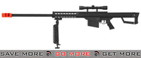 M82 Spring Rifle Black w/ Scope & Bi-pod Bolt Action Sniper Rifle- ModernAirsoft.com