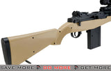AGM Tan M14 SOCOM Airsoft Spring Powered Rifle Package Air Spring Rifles- ModernAirsoft.com