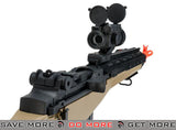 AGM Tan M14 SOCOM Airsoft Spring Powered Rifle Package