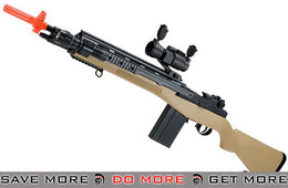 AGM Tan M14 SOCOM Airsoft Spring Powered Rifle Package - Modern Airsoft