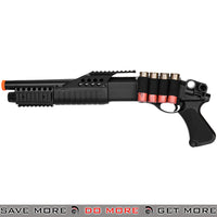 UKARMS Tri Shot Shell Loading RIS Shotgun M180A1 Airsoft Shotguns- ModernAirsoft.com