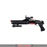 UKARMS Tri Shot Shell Loading RIS Shotgun M180A2 - Faux Red Dot, Flashlight Airsoft Shotguns- ModernAirsoft.com