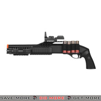 UKARMS Tri Shot Shell Loading RIS Shotgun M180B2 - Faux Red Dot, Flashlight Airsoft Shotguns- ModernAirsoft.com