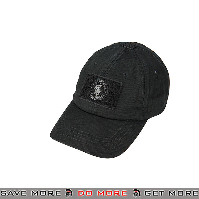fbc36c0f85c30 Lancer Tactical VELCRO Morale Tactical Ball Cap w  Strap Back M2618B -  Black Head -