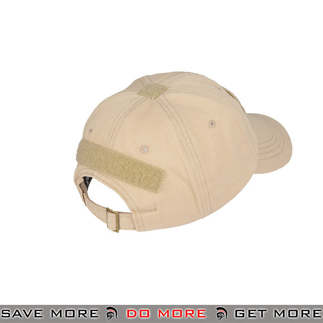 90b5eddd1d3ba Lancer Tactical VELCRO Morale Tactical Ball Cap w  Strap Back M2618T - Tan  Head -