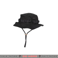 Lancer Tactical Ventilated Tactical Boonie Hat M2619B - Black Head - Hats- ModernAirsoft.com