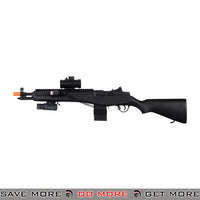 Double Eagle M306P M14 SOCOM RIS LPAEG Airsoft Electric Rifle w/ Laser, Scope, Flashlight Air Spring Rifles- ModernAirsoft.com