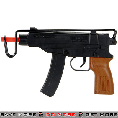 UKARMS Polymer Skorpion Replica Spring Pistol M309A - Black, Faux Wood Air Spring Pistols- ModernAirsoft.com