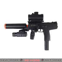 Double Eagle M30P TMP Airsoft Spring Power Rifle w/ Scope, Laser, Flashlight, Suppressor Air Spring Rifles- ModernAirsoft.com