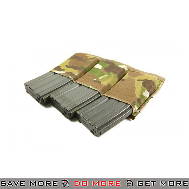 Blue Force Gear Ten-Speed Helium Whisper Bungee Triple M4 Mag Pouch [HW-TSP-M4-3-MC] - Multicam