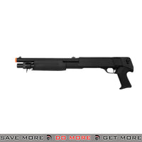 Double Eagle Tri Shot Shell Loading M3 Shotgun M56B - Short, Pistol Grip Airsoft Shotguns- ModernAirsoft.com