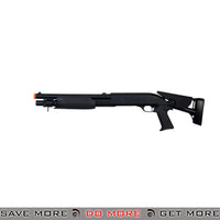 Double Eagle Tri Shot Shell Loading M3 Shotgun M56C - Pistol Grip, Retractable Stock Airsoft Shotguns- ModernAirsoft.com