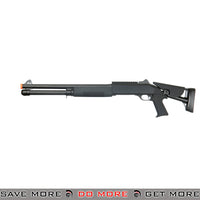 Double Eagle Tri Shot Shell Loading M1014 Shotgun M56DL - Long, Pistol Grip, Retractable Stock Airsoft Shotguns- ModernAirsoft.com