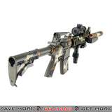 Double Eagle Polymer Electric M4 Style LPAEG Rifle M83A2CAMO w/ Flashlight, Laser, Red Dot Scope, Suppressor - Camo LPAEG- ModernAirsoft.com