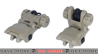 ICS CXP Flip-up Rear Rifle Sight - Tan iron sights- ModernAirsoft.com