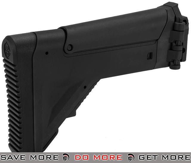 ICS Replacement Folding / Adjustable Stock for CXP APE Series Airsoft AEG Rifles - Black Stocks- ModernAirsoft.com
