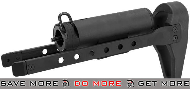 ICS QRS Retractable Stock for CXP M4 Series Airsoft AEG EBB Rifles - Black Stocks- ModernAirsoft.com