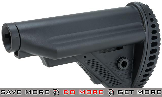 ICS MTR S1 Tactical Retractable Stock w/ Buffer Tube for M4/M16 Series Airsoft AEGs - Black Stocks- ModernAirsoft.com
