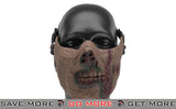 "6mmProShop Iron Face Lower Half Mask ""Zombie"" - Undead"