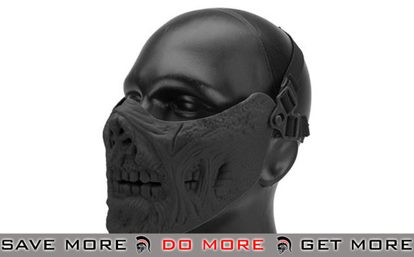 "6mmProShop Iron Face Lower Half Mask ""Zombie"" - Black"