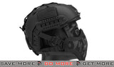 "Emerson ""Striker V1"" Iron Face Mesh Lower Half Mask for Use with Bump Helmets - Black with Skull"