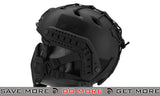 "6mmProShop ""Striker V1"" Iron Face Mesh Lower Half Mask for Use with Bump Helmets - Black"