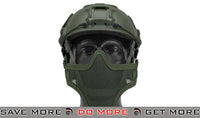 "Emerson ""Striker V1"" Iron Face Mesh Lower Half Mask for Use with Bump Helmets - OD Green"