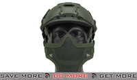 "Lancer Tactical ""Striker V1"" Iron Face Mesh Lower Half Mask for Use with Bump Helmets - OD Green"