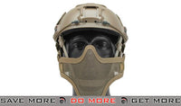 "Emerson ""Striker V1"" Iron Face Mesh Lower Half Mask for Use with Bump Helmets - Tan Face Masks- ModernAirsoft.com"