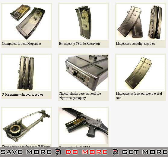 ICS 380rd Hicap Magazine for SIG 550 / 552 Series Airsoft AEG Rifle Electric Gun Magazine- ModernAirsoft.com