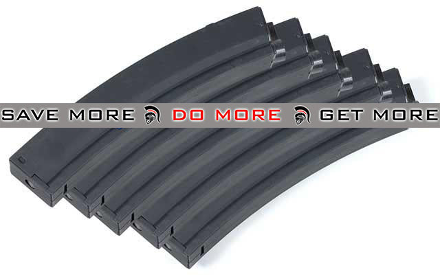 Matrix Metal 100rd No Winding Mid-Cap Mag for MP5 / Mod5 Series Airsoft AEG (Set of 5) Electric Gun Magazine- ModernAirsoft.com
