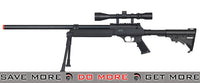 WELL Black MB06AB Bolt Action Rifle w/ Scope & Bipod Bolt Action Sniper Rifle- ModernAirsoft.com