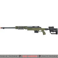WELL Bolt Action Fluted Barrel Sniper Rifle MB4411B - OD Green Bolt Action Sniper Rifle- ModernAirsoft.com