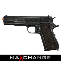 "MaxChange Used AW Custom Full Metal Custom ""Molon Labe"" Weathered 1911A1 Airsoft Gas Blowback Pistol"