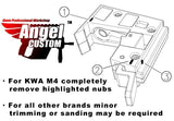Angel Custom AP10 9mm Airsoft AEG  Adapter Conversion Kit M4 - MP5 Magazine Accessories- ModernAirsoft.com