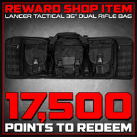 "Reward Shop Item - Lancer Tactical 36"" Dual Rifle Bag (Black) Gun Bags- ModernAirsoft.com"